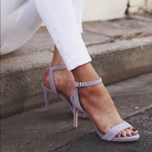 Style and co open toe ankle heels